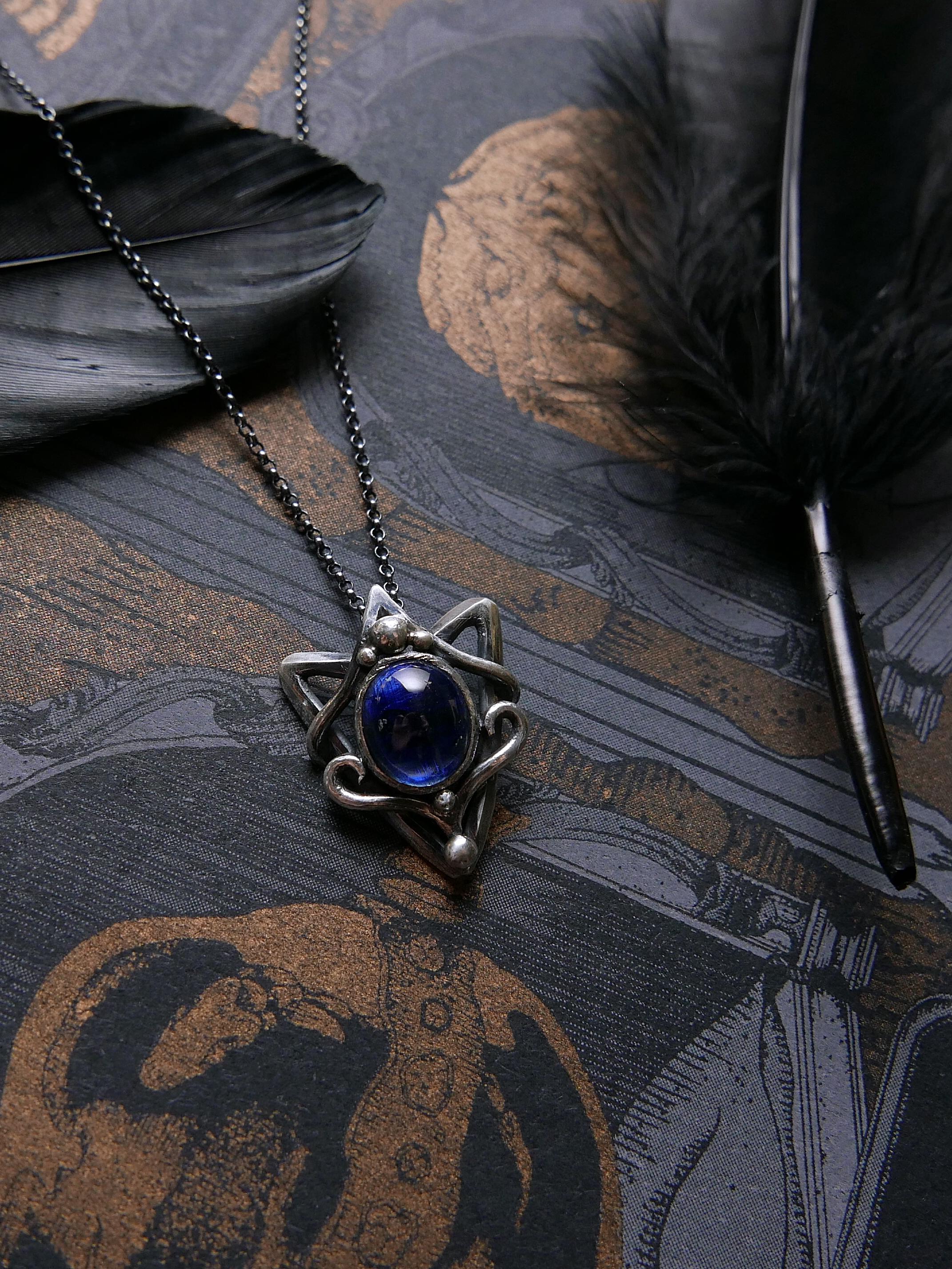 幾何想像。藍晶純銀鍊