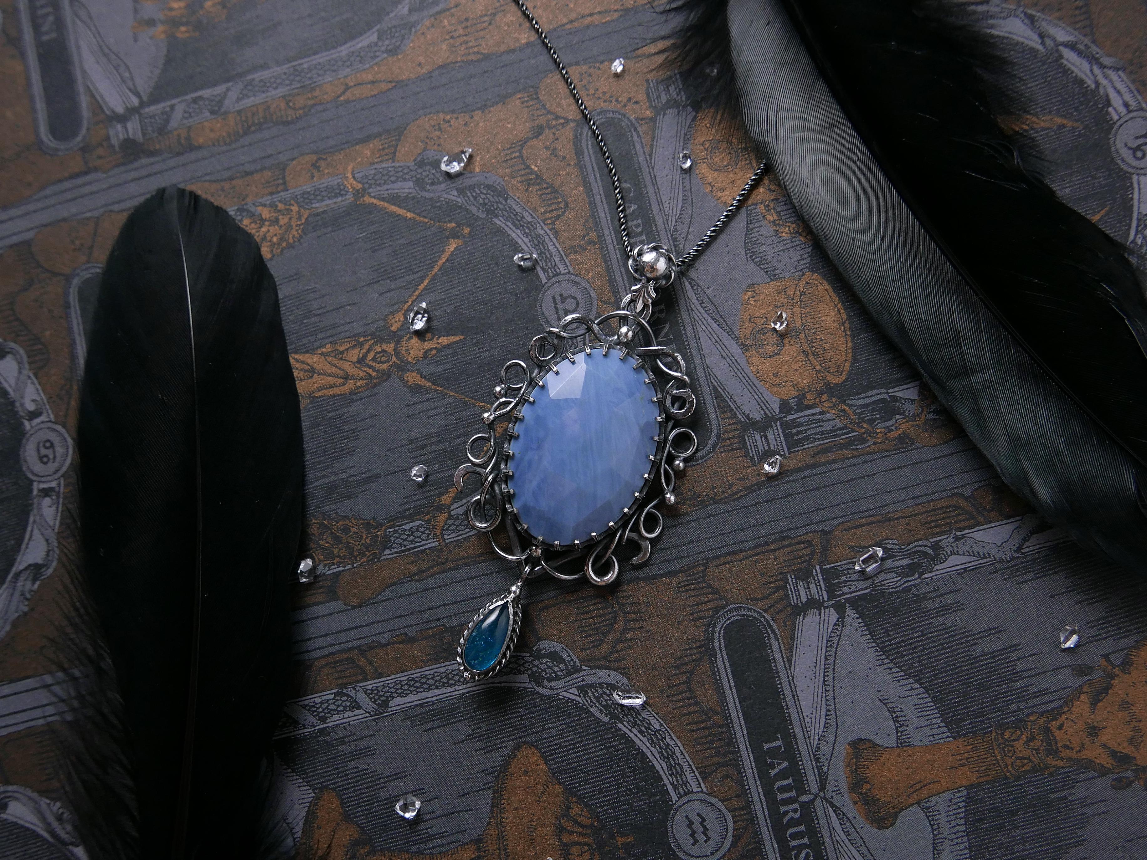 海神寶藏。藍蛋白兩戴純銀鍊